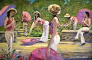 Straw Hats and Parasols Il