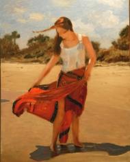 Vero Beach Series - Girl with Pareo